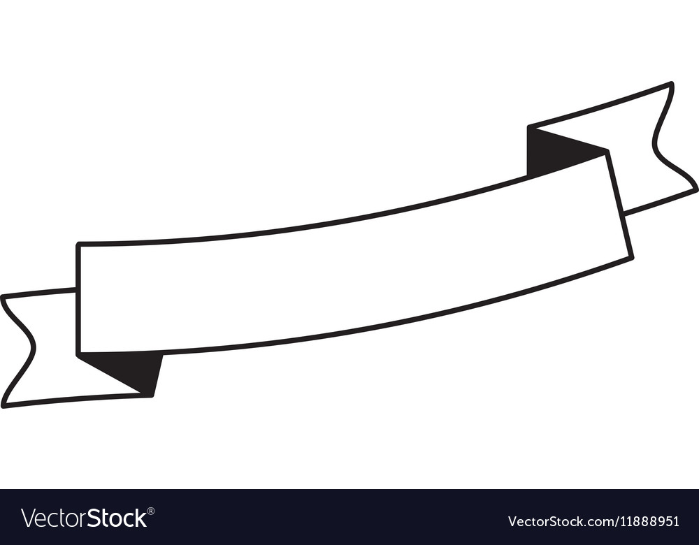 Pictogram ribbon banner blank design Royalty Free Vector