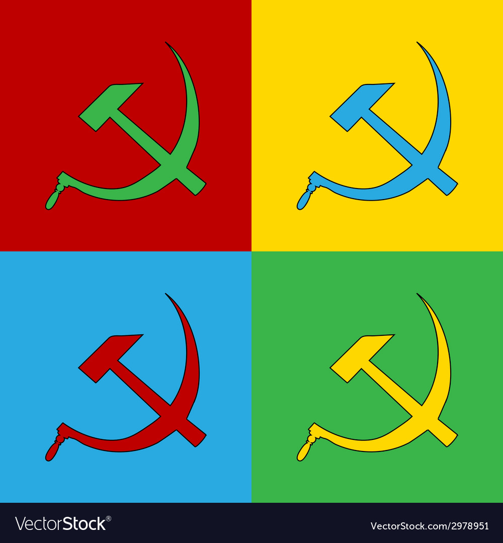 Pop art communist symbols