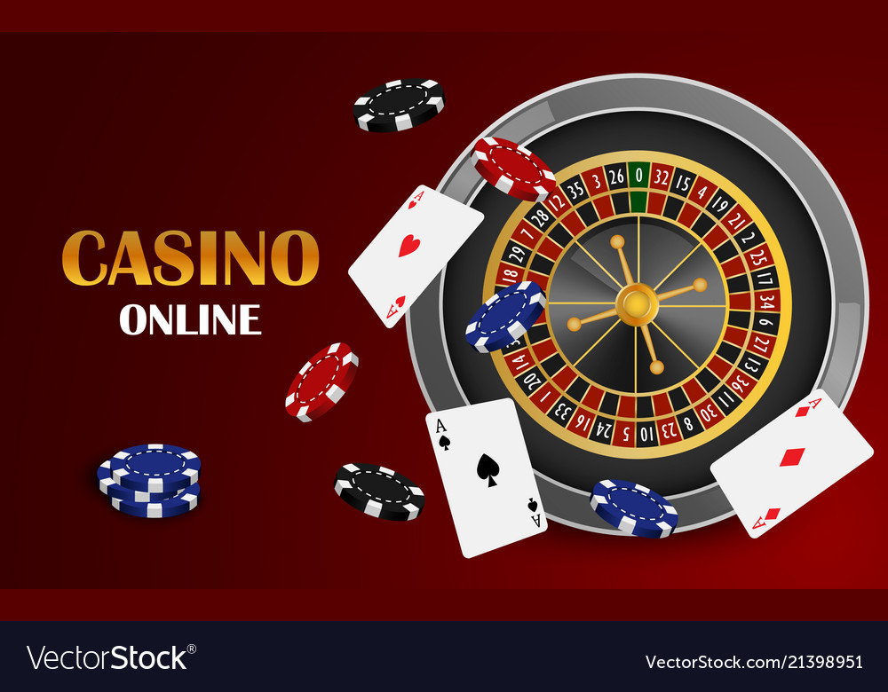 Red casino online concept background realistic
