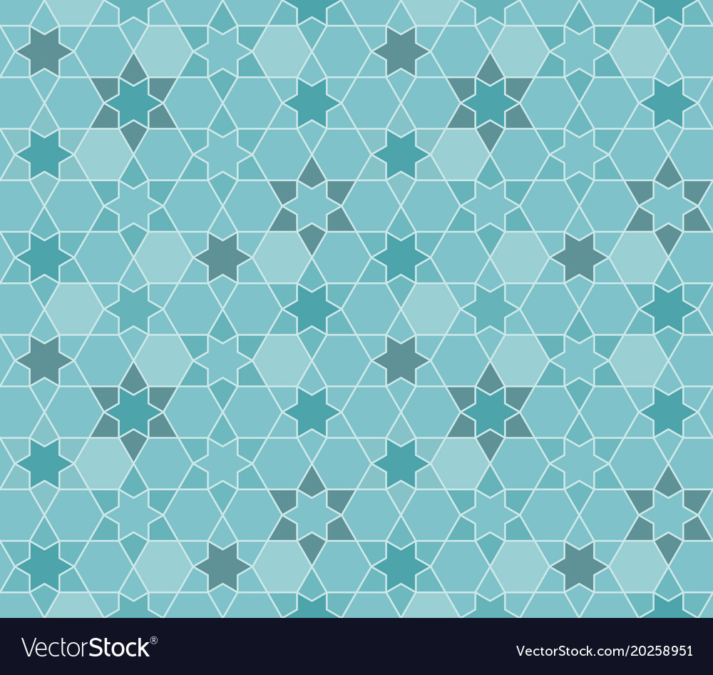 Seamless pattern moroccan in blue theme vector image