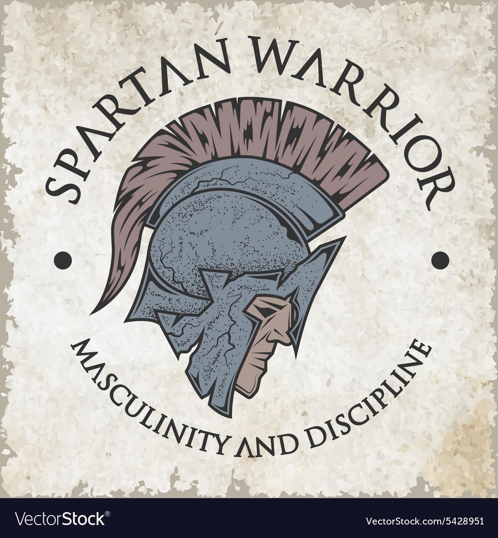 Spartan warrior Emblem vintage style