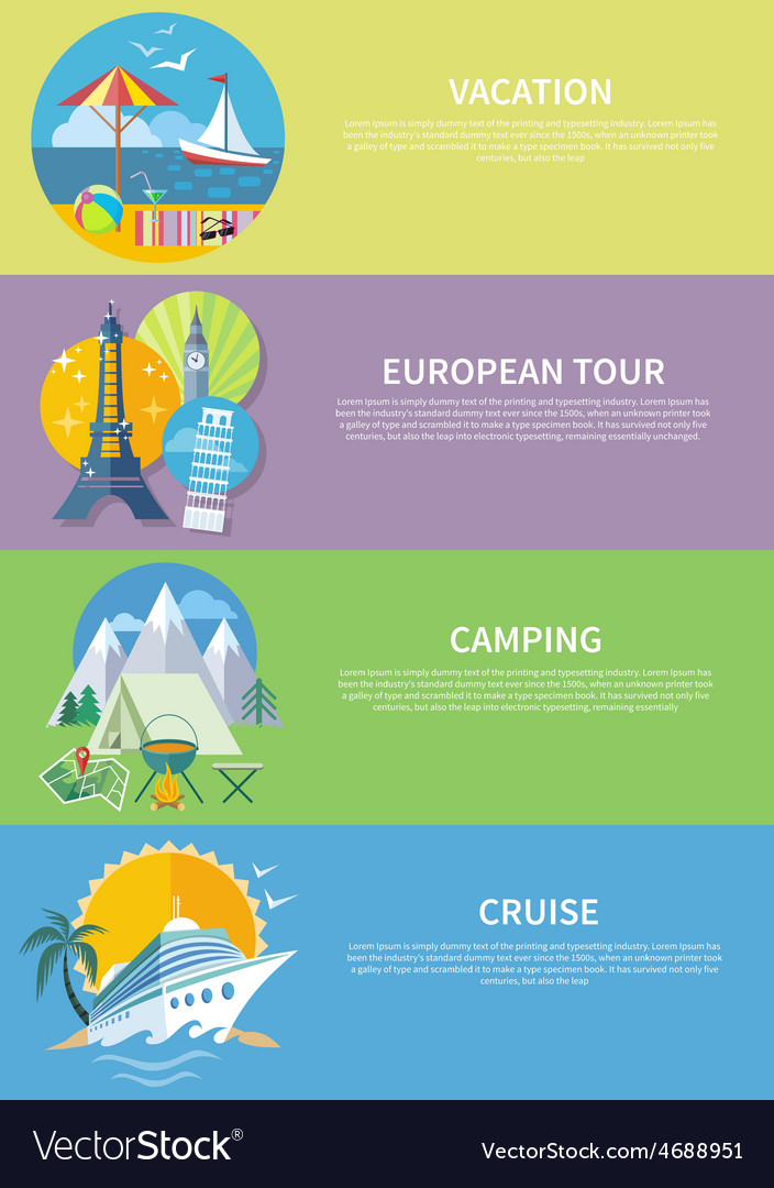 Traveling Cruise Ship and Camping Concept
