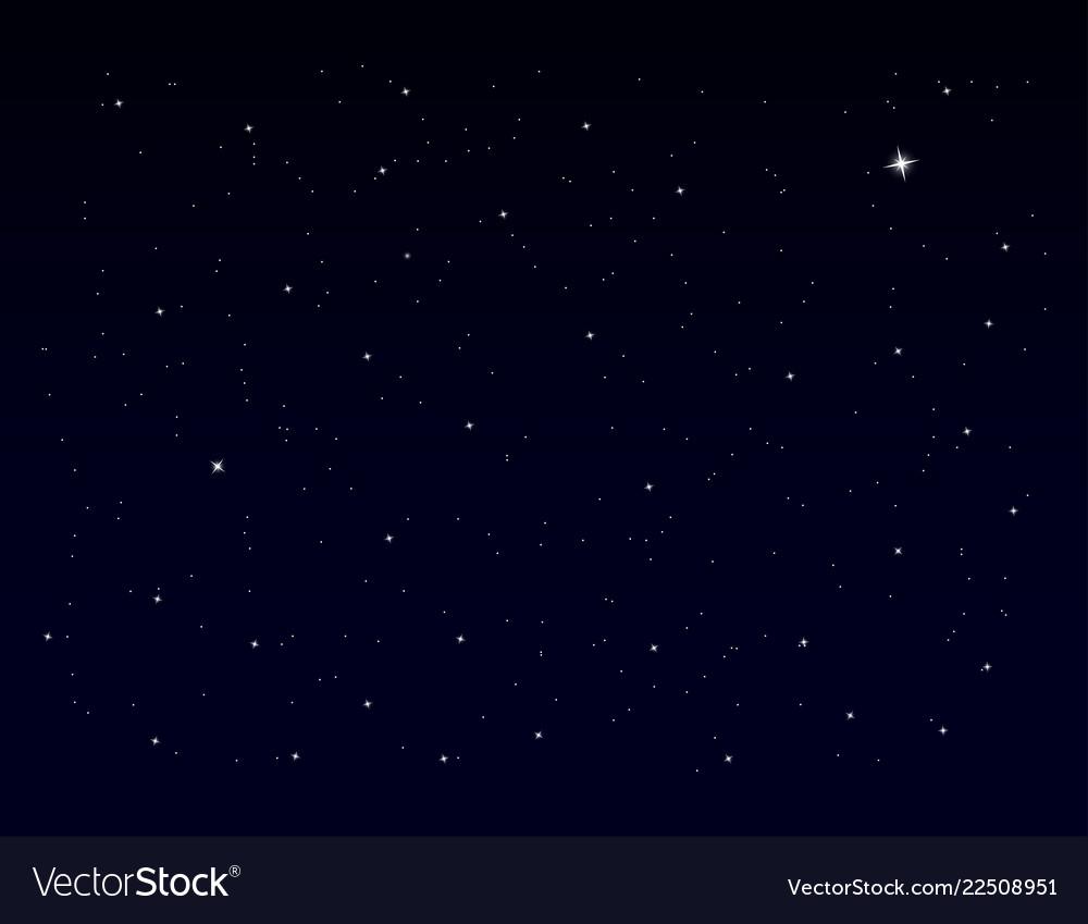 White stars on blue sky eps10