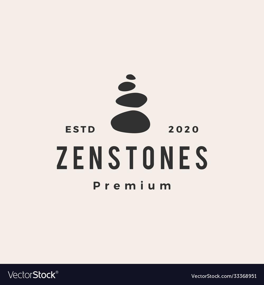 Zen stones hipster vintage logo icon