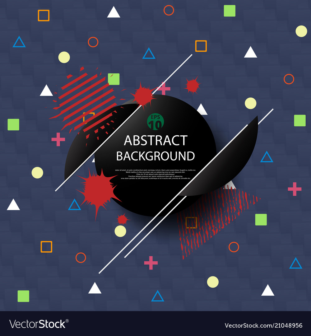 Abstract of geometric pattern with stylish art
