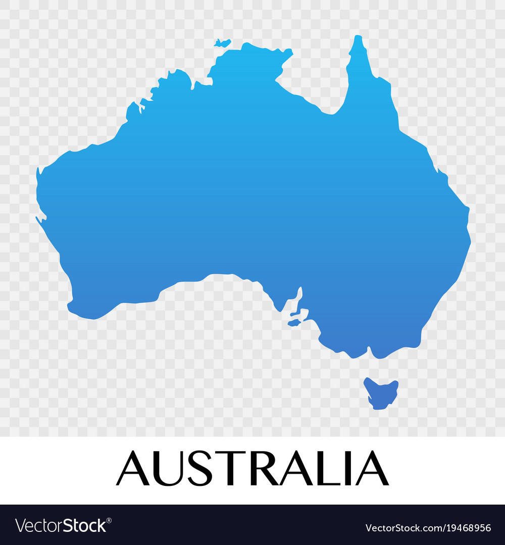 Australia Map Picture.Australia Map In Asia Continent Design Royalty Free Vector