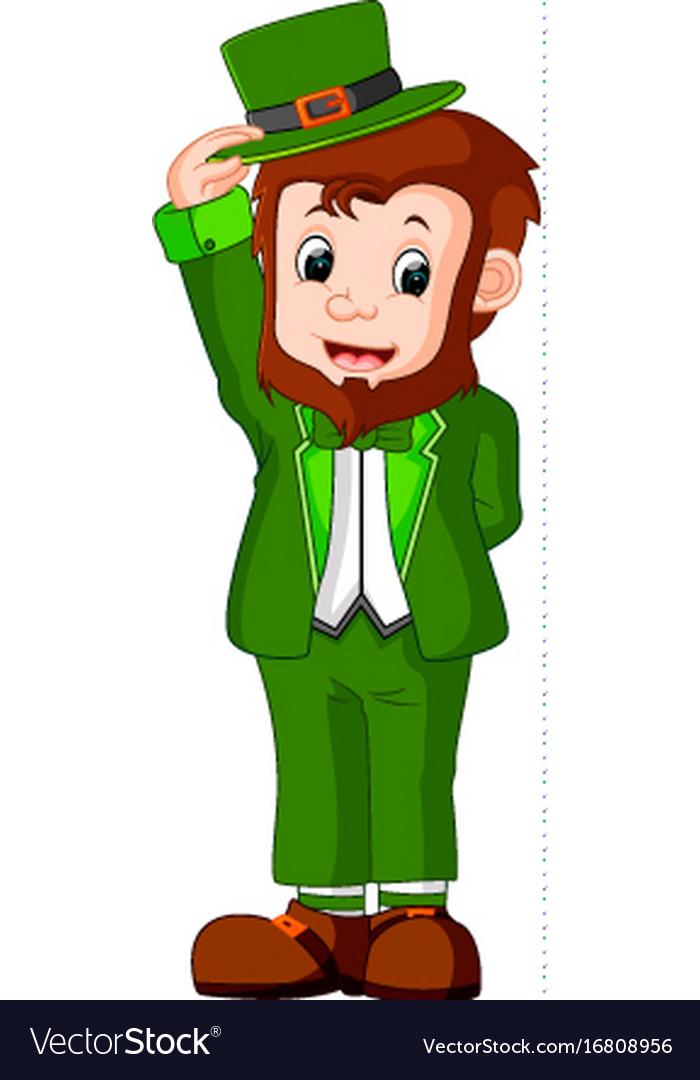 cartoon funny leprechaun royalty free vector image rh vectorstock com leprechaun vector download leprechaun vector graphics