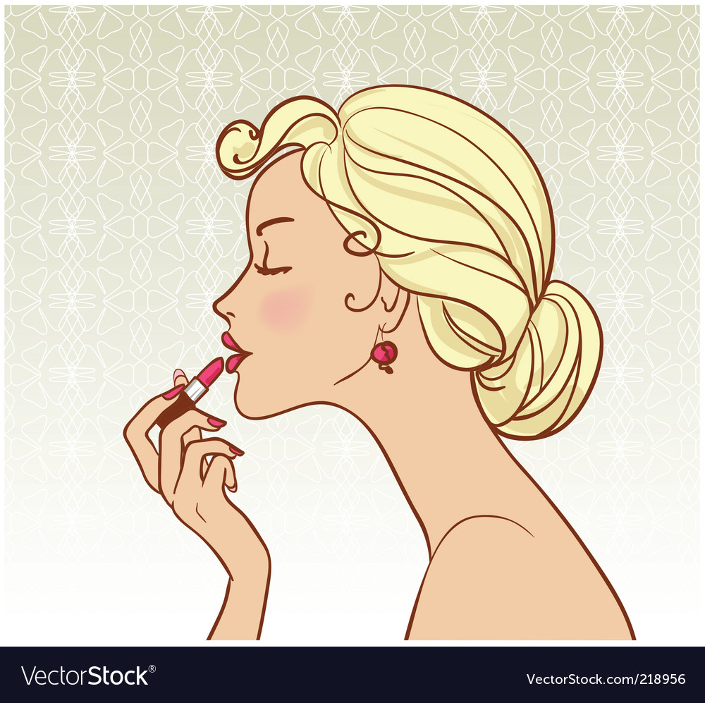 Girl with lipstick