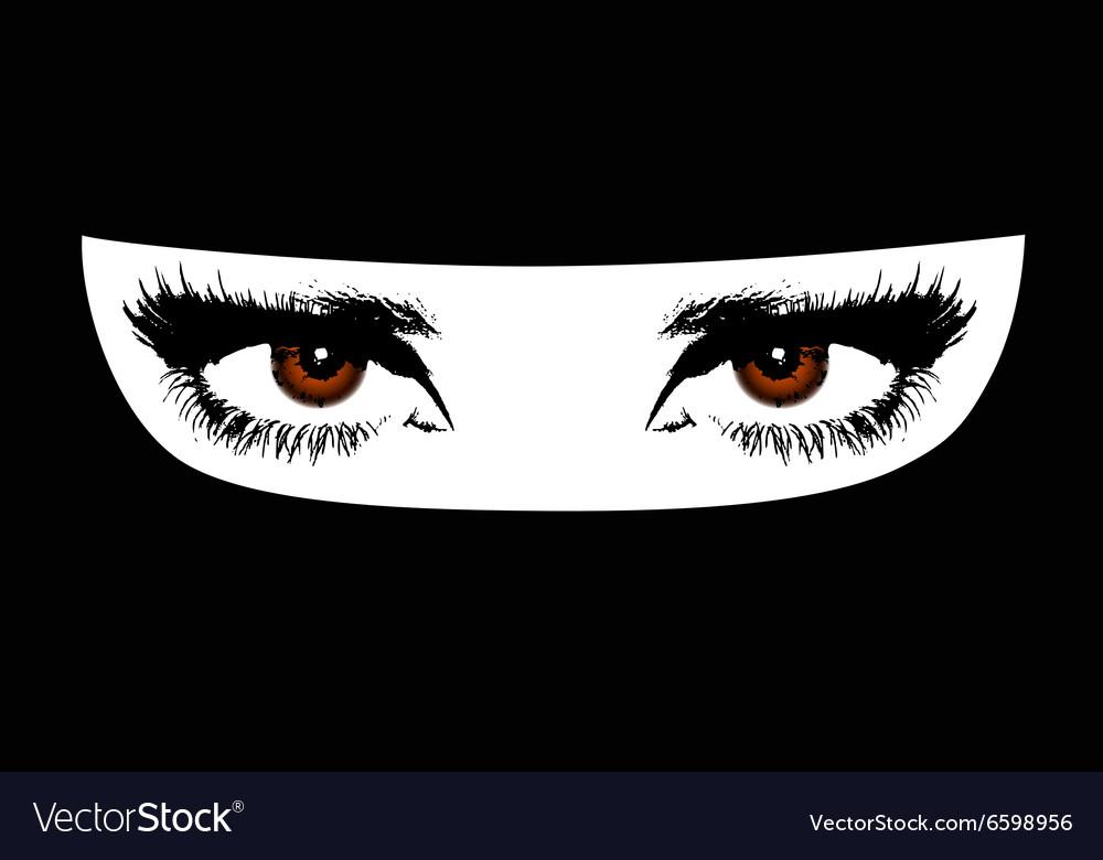 Muslim woman vector image