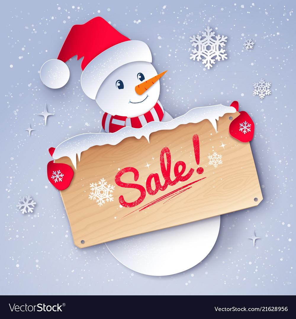Paper cut style winter sale