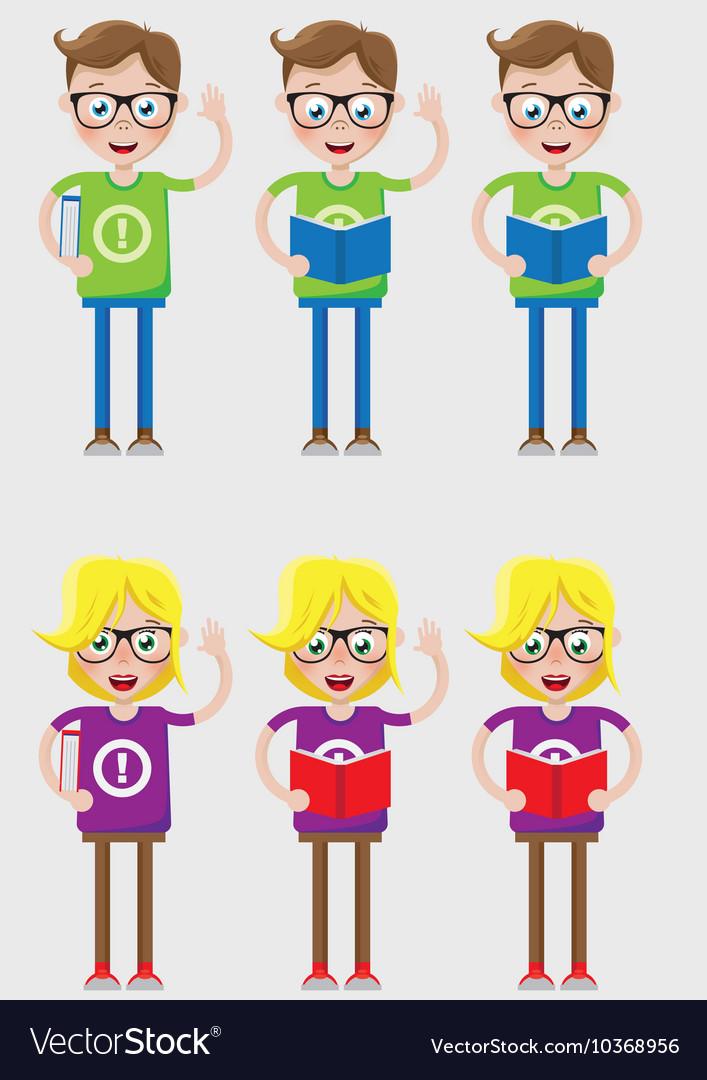 Smart kids vector image