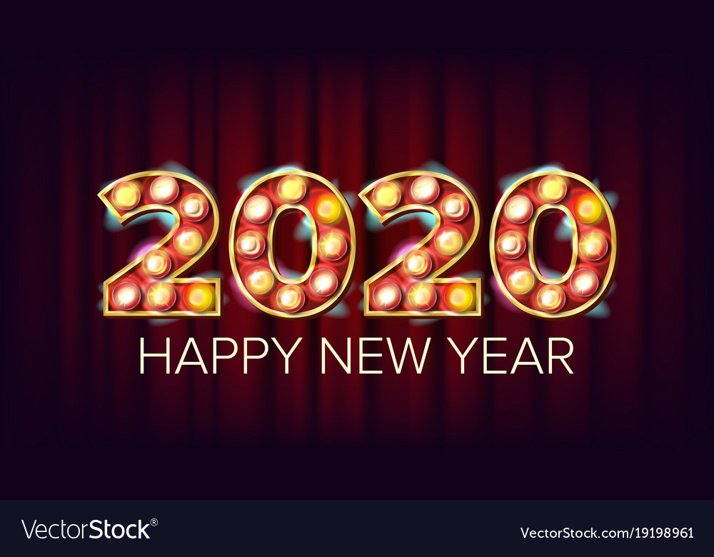 Happy 2020 New Year Marquee, New & Year Vector Images (66)