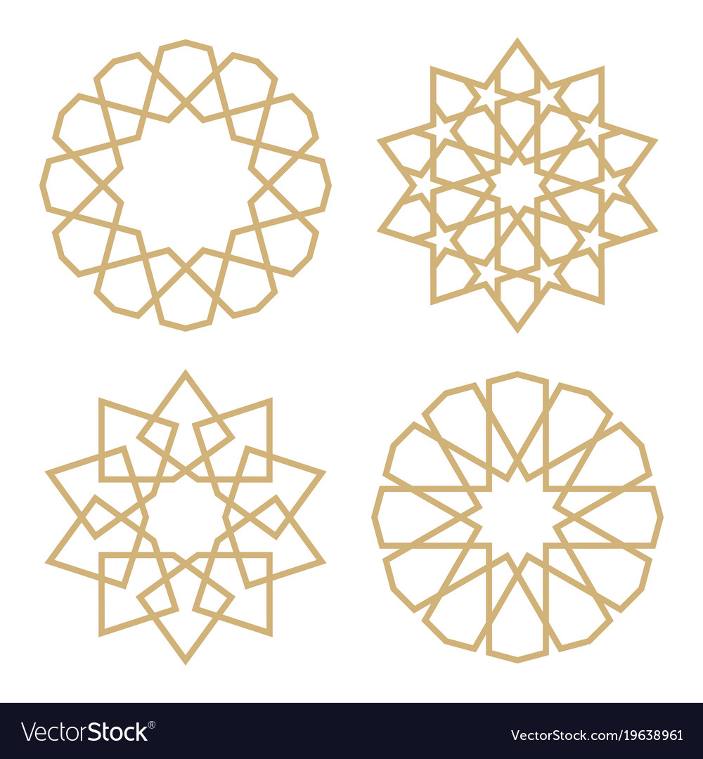 A set of stars in the arab style