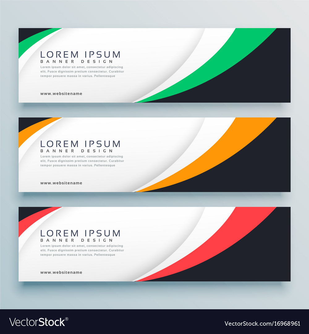 Abstract Web Banner Or Header Design Template Vector Image