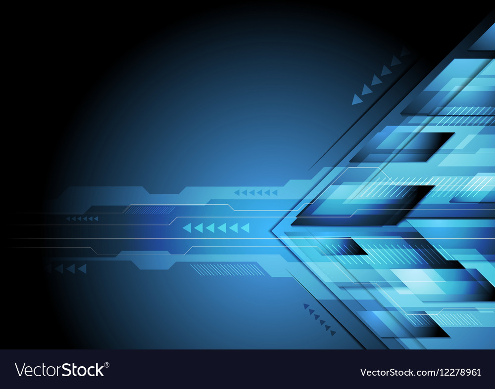 Dark blue abstract technology brochure design