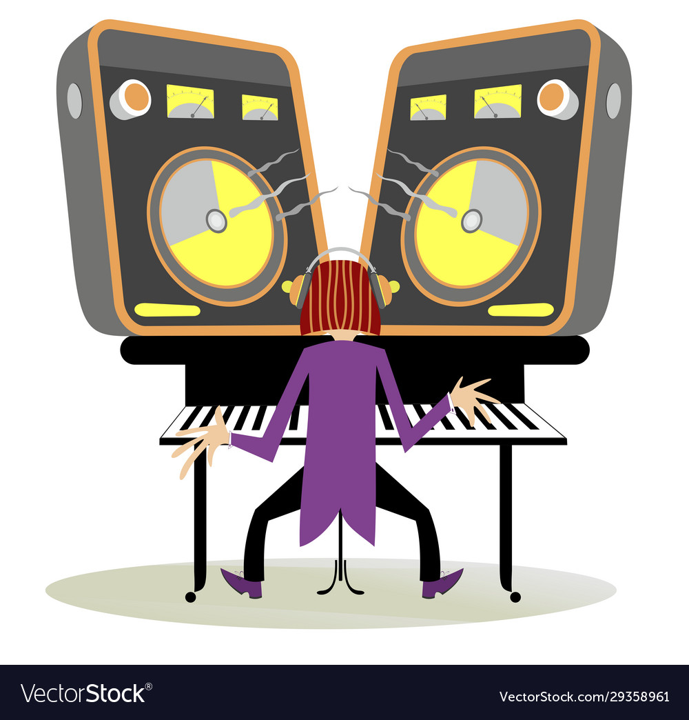 Vector Stock - Man playing piano. Stock Clip Art gg102139814 - GoGraph