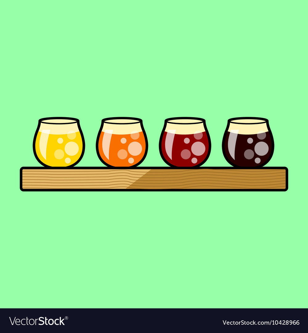 Beer Flight Tasting Tray