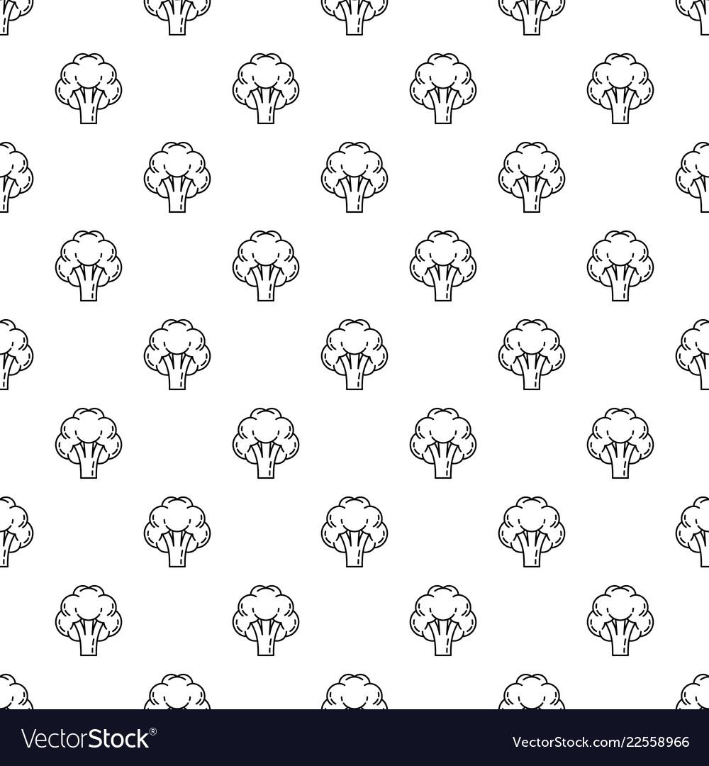 Broccoli pattern seamless