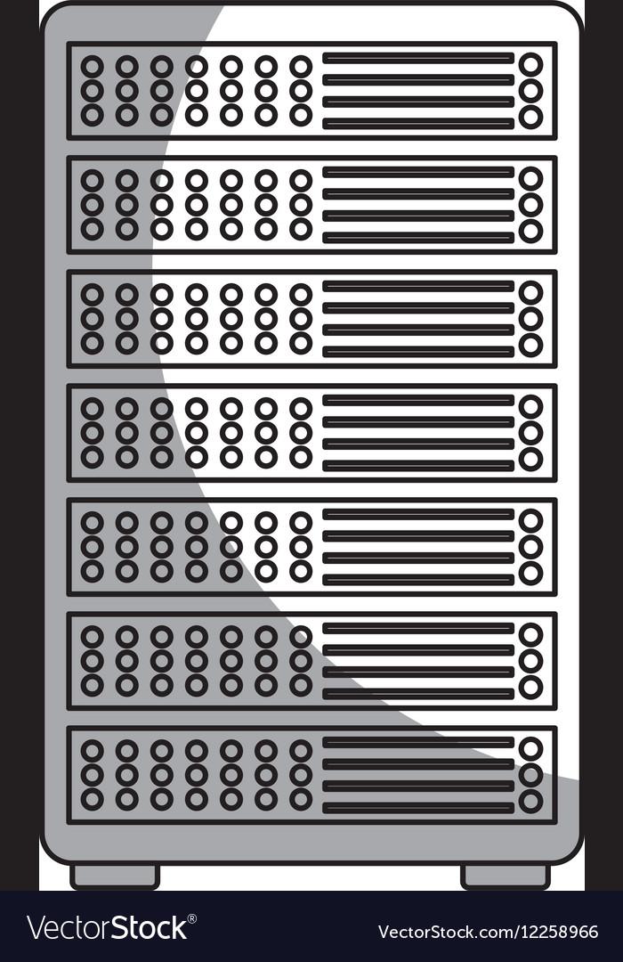 Data center server isolated icon