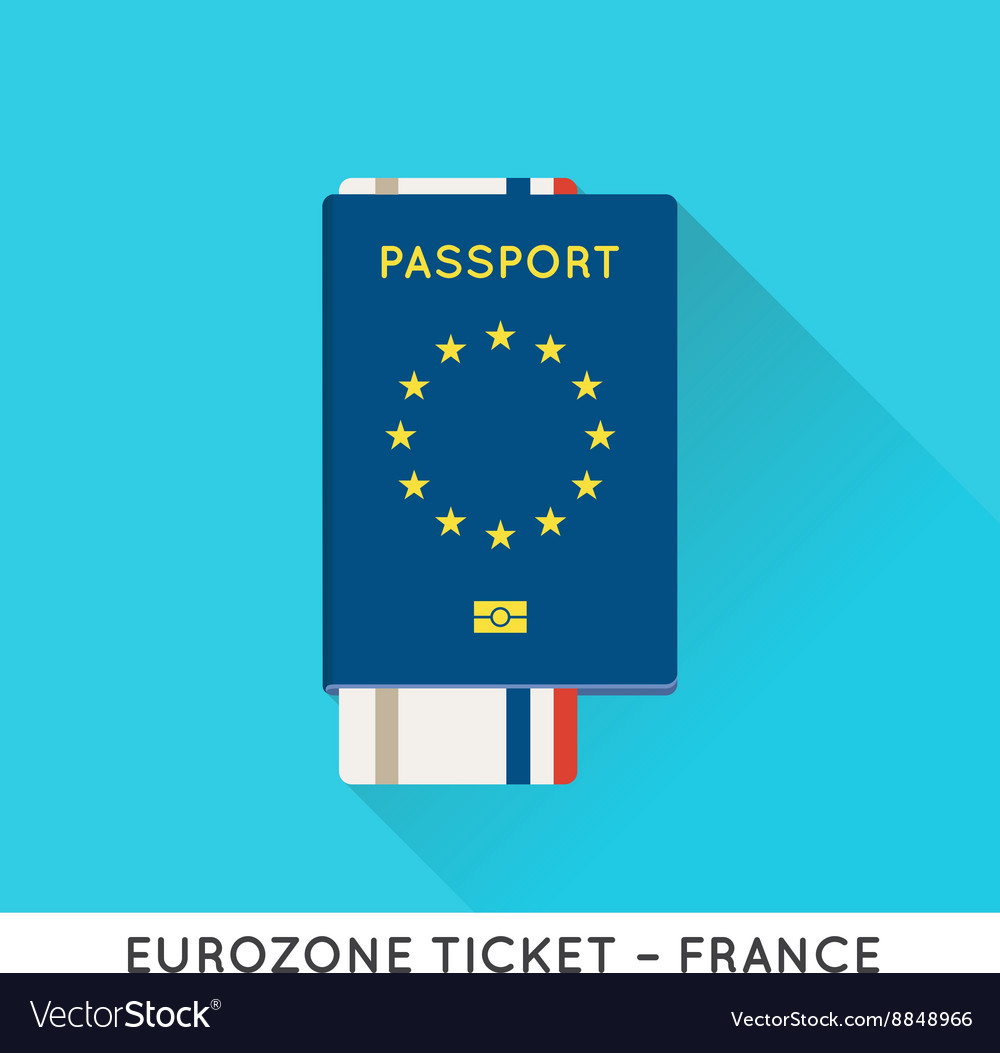 Eurozone Europe Passport with tickets Air Tickets