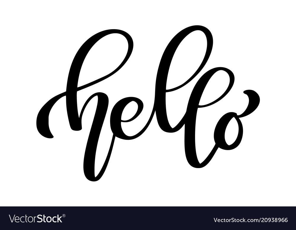 Hello quote message bubble calligraphic simple
