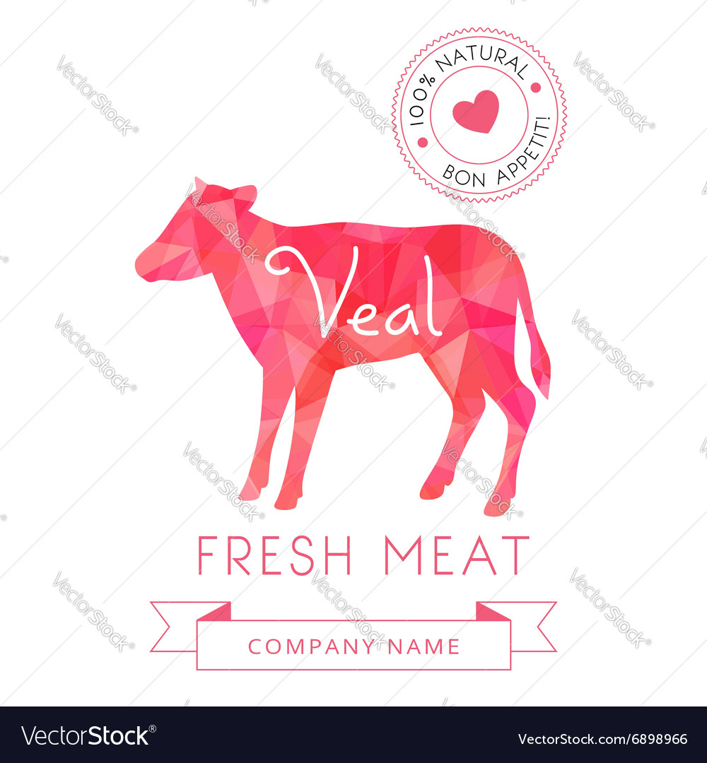 Image meat symbol veal silhouettes of animal for