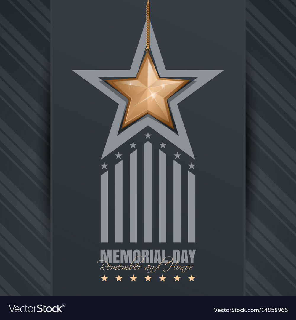 Poster for memorial day
