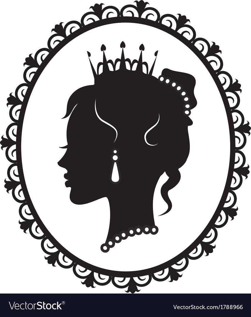Princess silhouette in frame