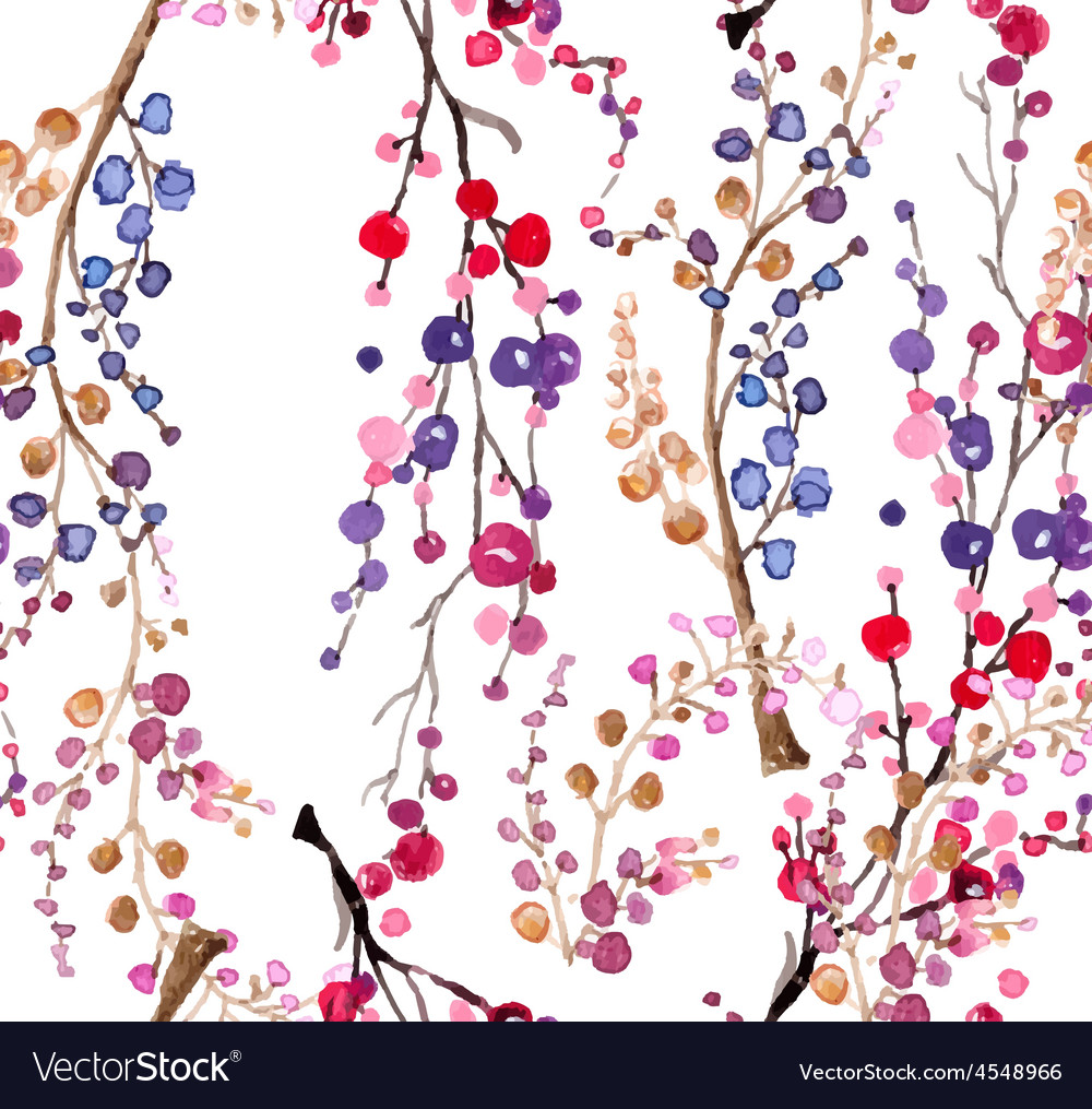 Seamless watercolor floral background