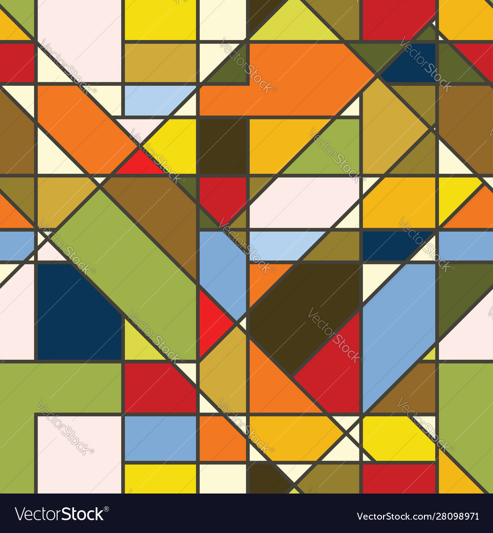 Abstract color seamless patchwork wallpaper
