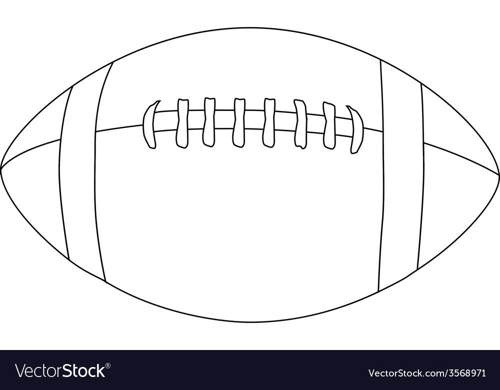 american football ball outline vector image - Football Outline