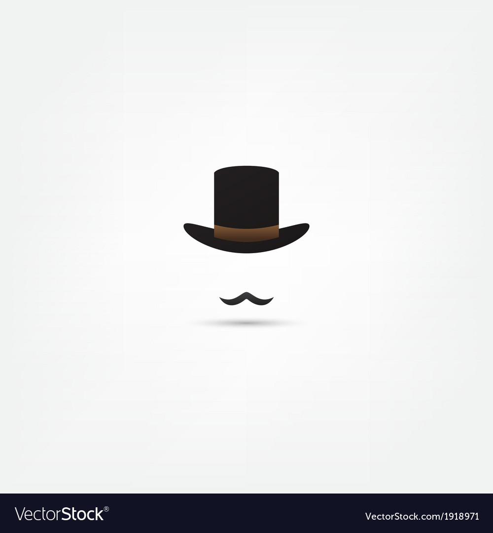Bowler hat and moustache