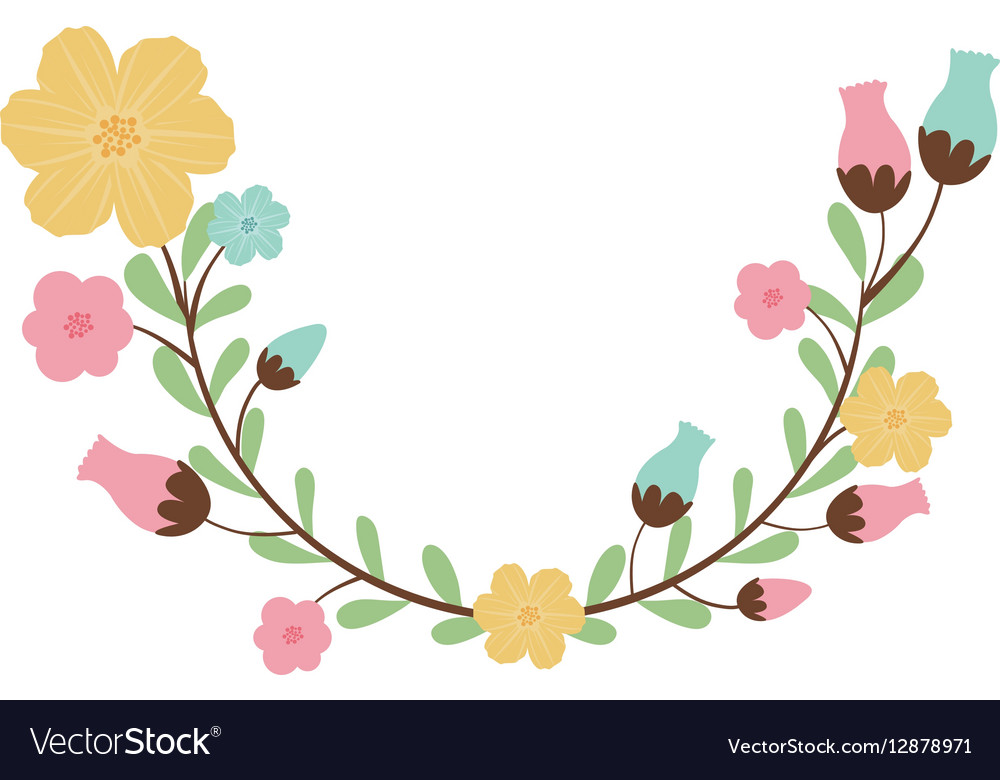 Colorful Decorative Half Arch With Flowerbud