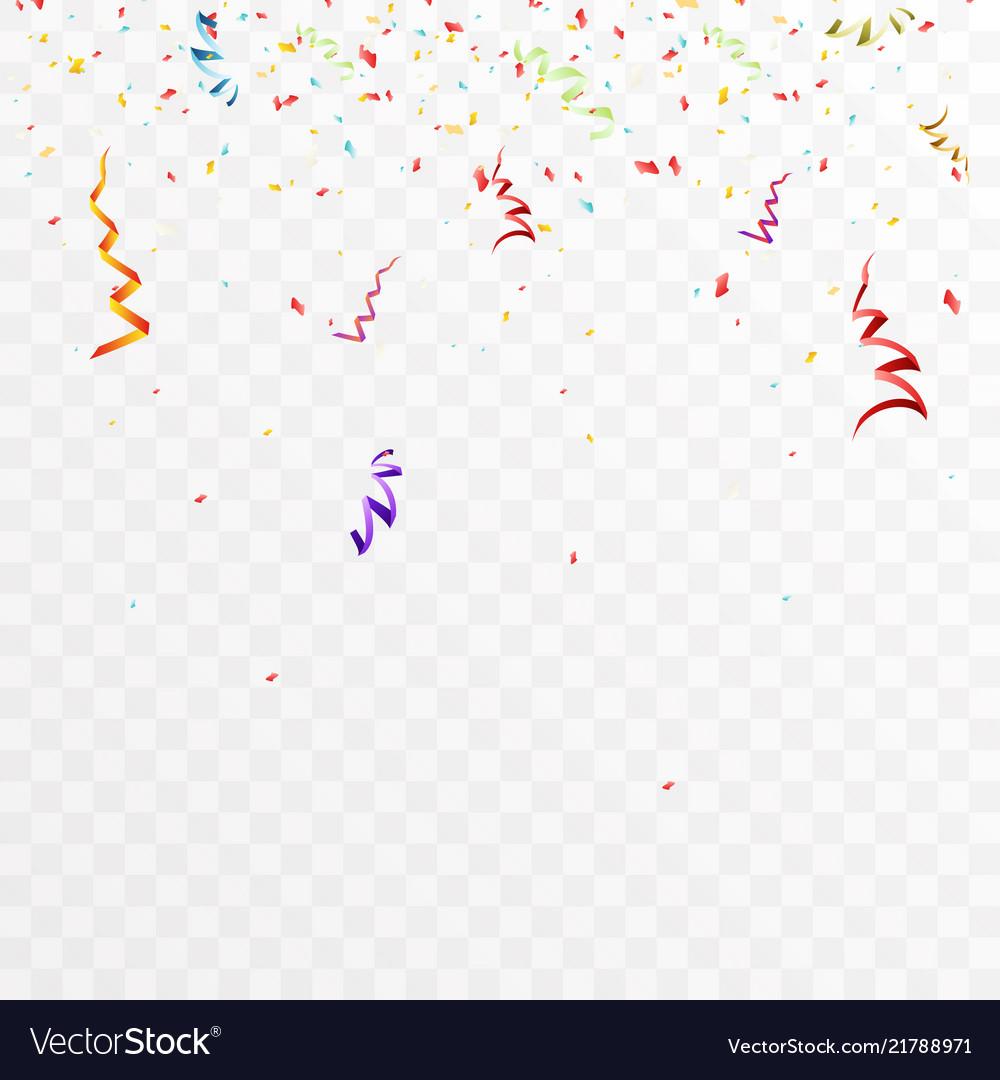Confetti decoration party celebration design