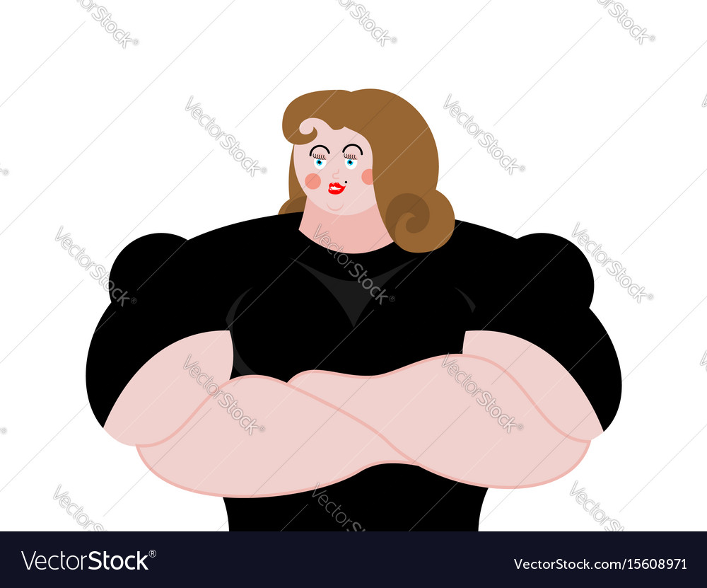 Female bodyguard strong woman guard at nightclub vector image