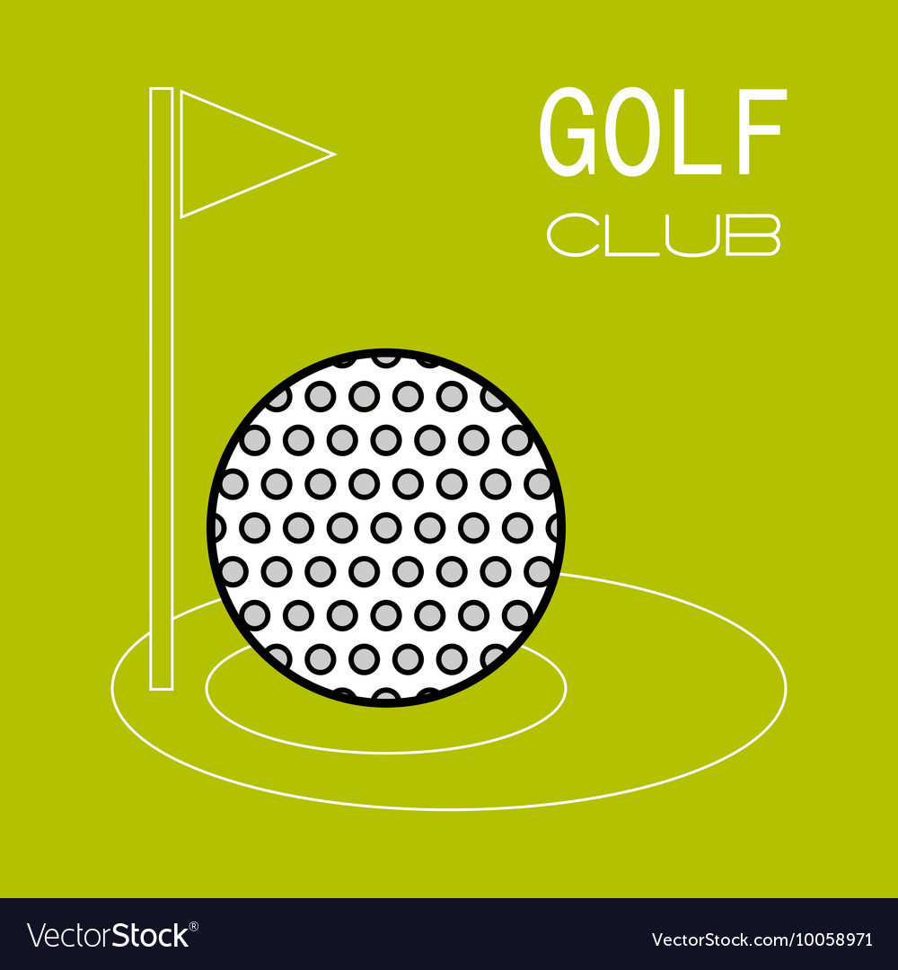 Golf ball hole for game Flat color icon Sports