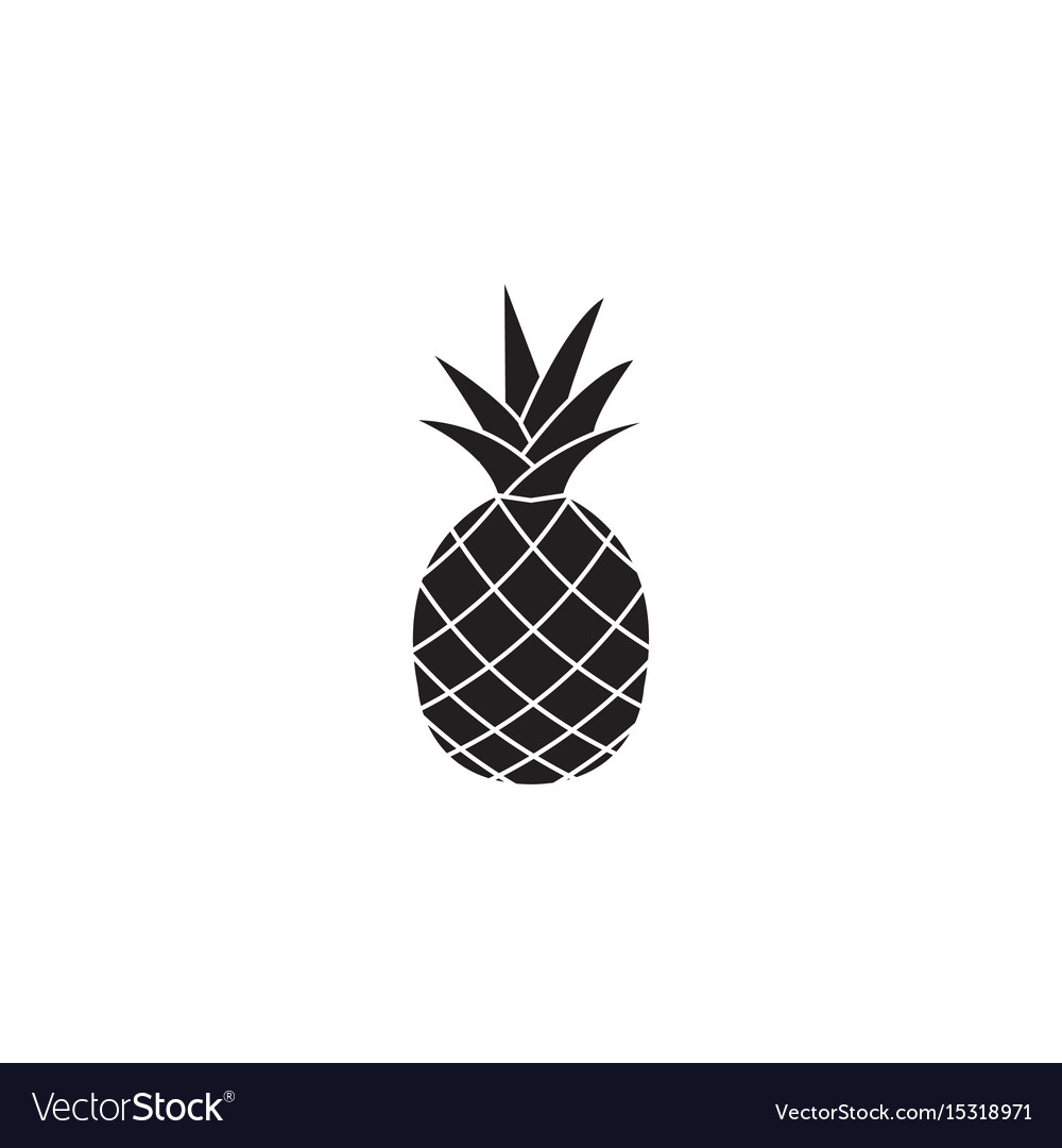 Pineapple and ananas soldi icon healthy fruit