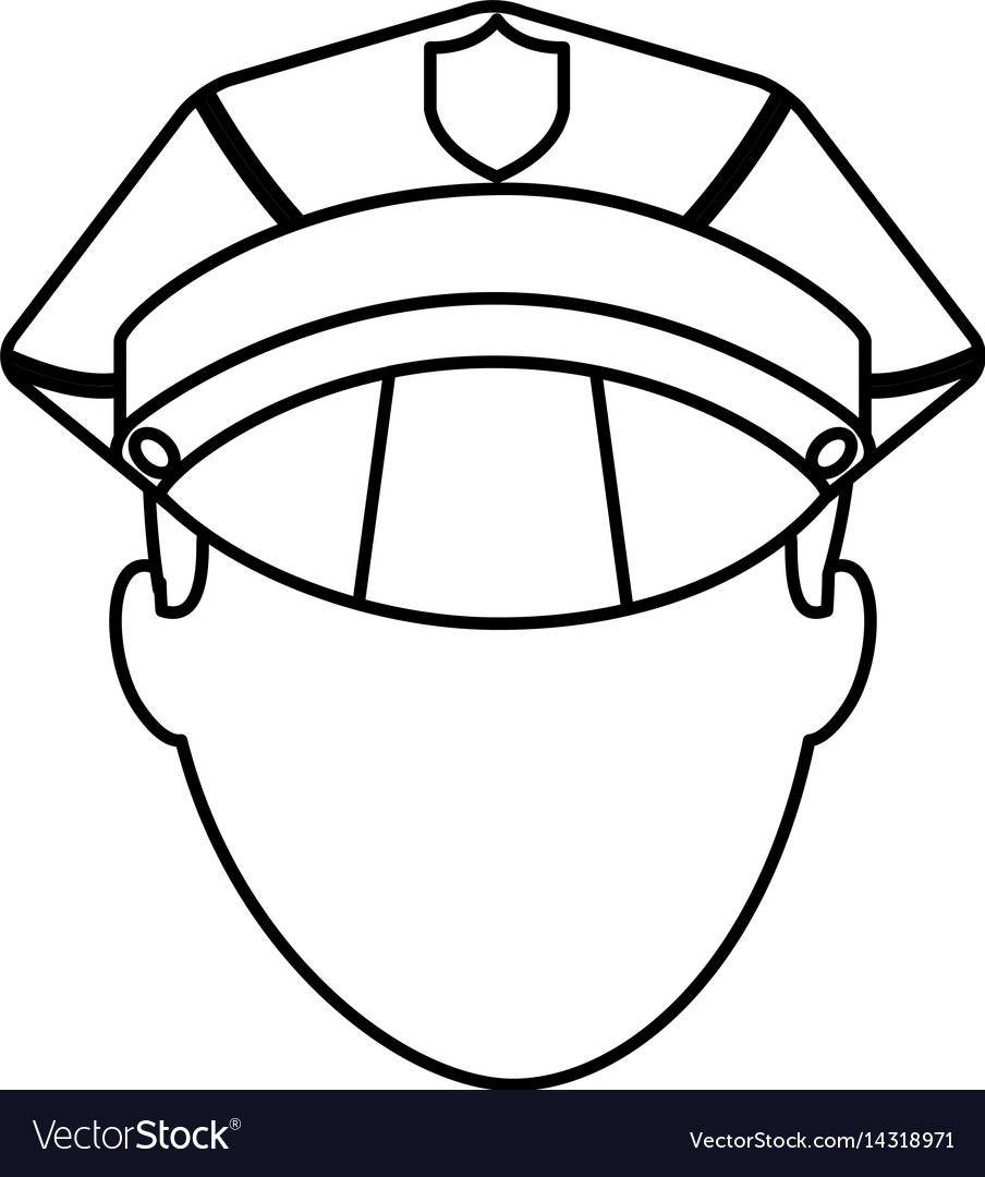 Police officer avatar icon