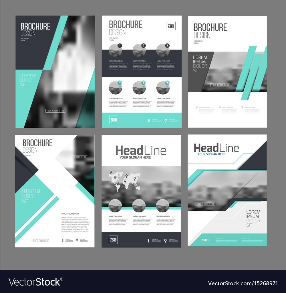 Six Trendy Brochures Templates Royalty Free Vector Image