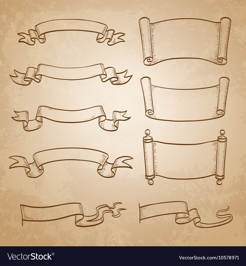 Sketch set of banners