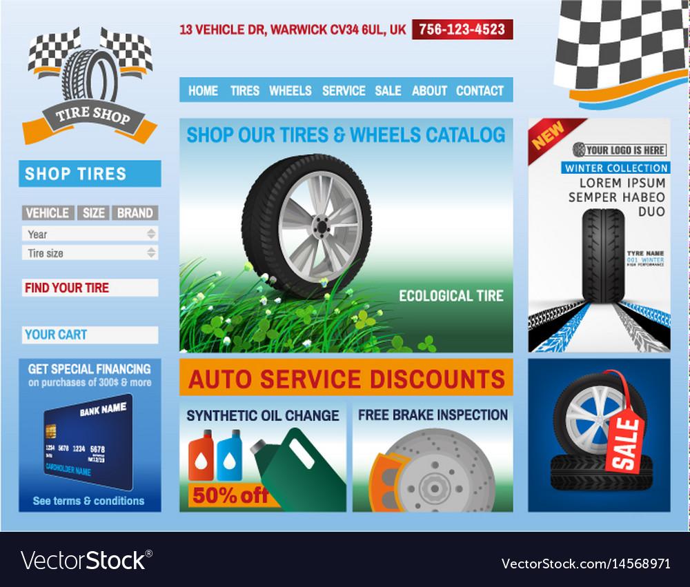 Tire shop website