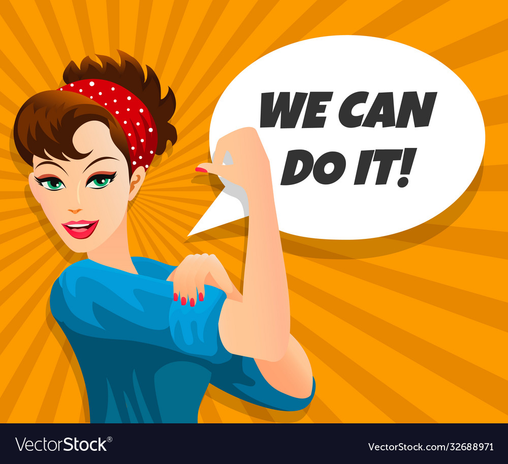 We can do it retro poster
