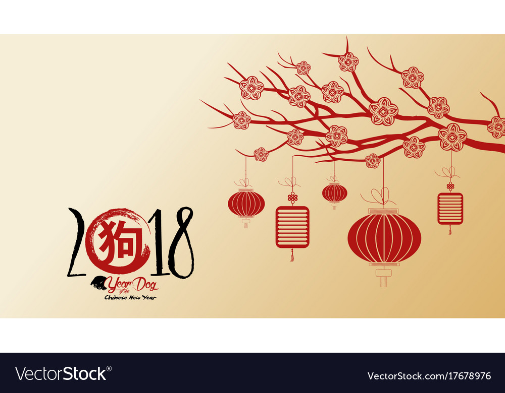 beautiful happy new year 2018 wallpapers year of vector image