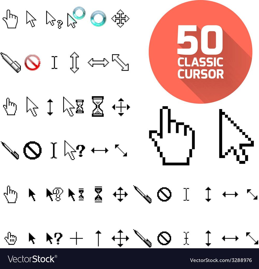 Classic cursor pack vector image