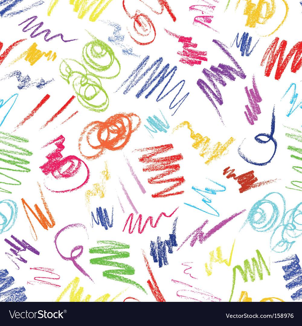Crayon scribbles vector image