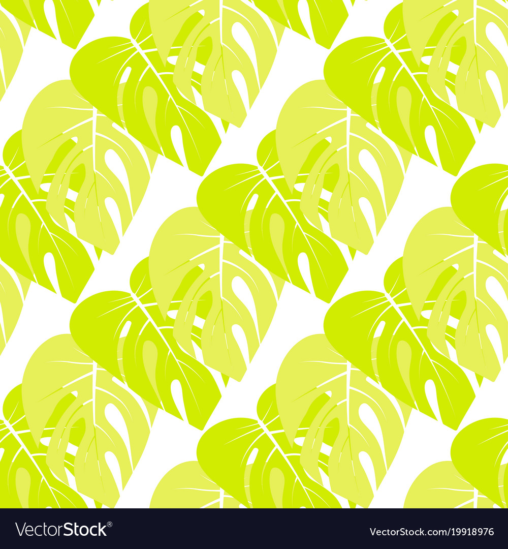 Floral pattern with palm leaves