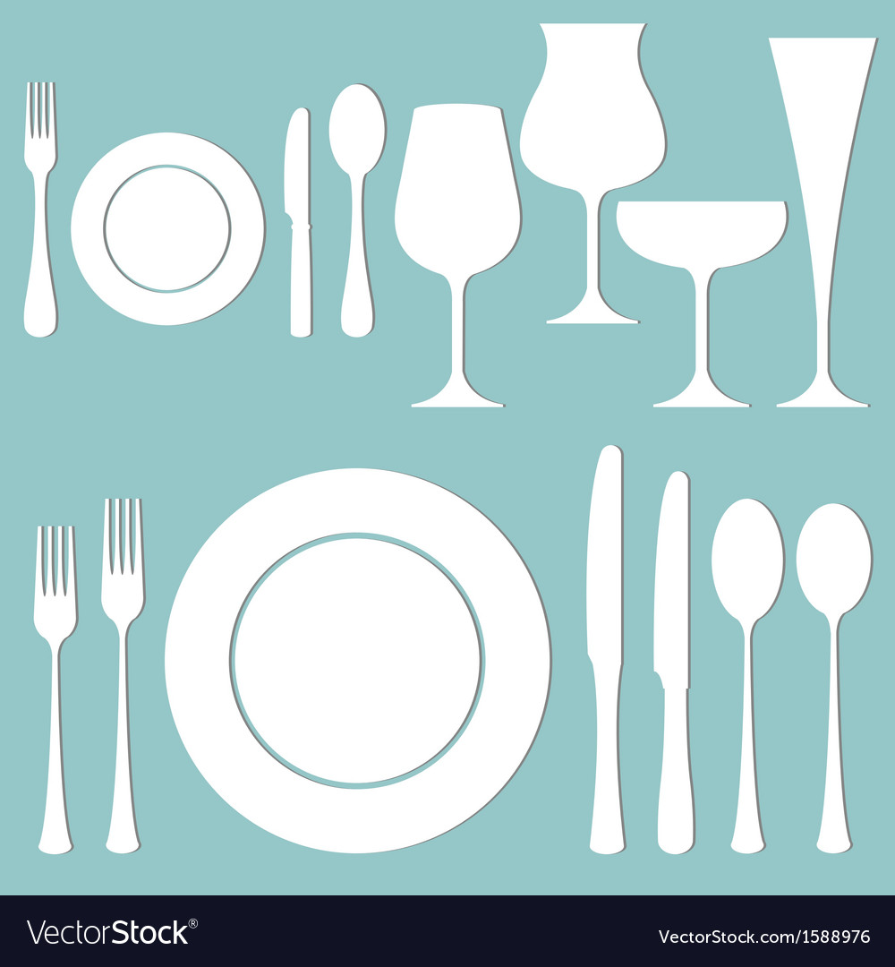 Formal dinner vector image