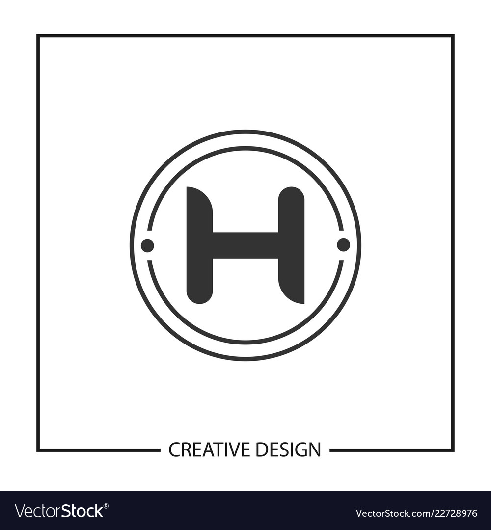 initial letter h logo template design vector image