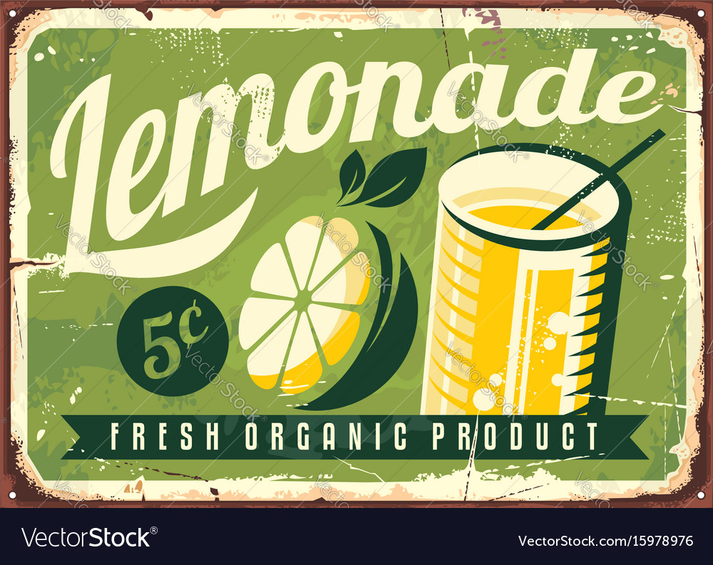 Lemonade vintage tin sign