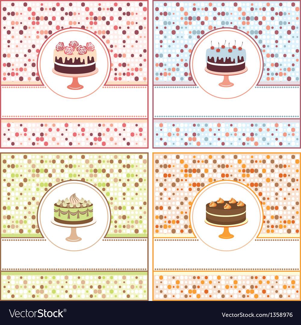 Set of cake cards
